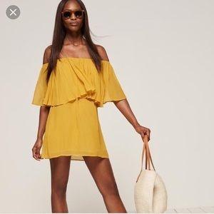 Reformation Charleston Yellow Dress